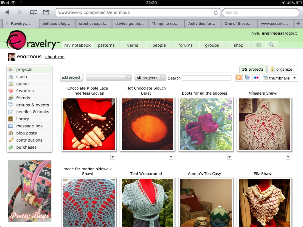 My projects on Ravelry