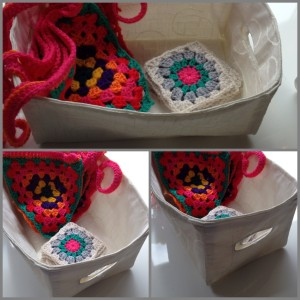 Handmade fabric box