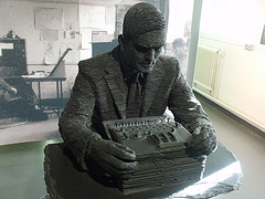 Bust of Alan Turing at Bletchley Park
